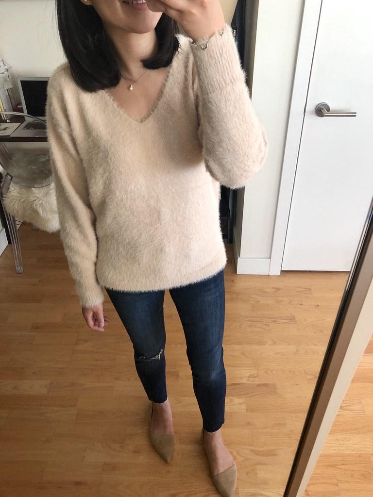 Lou & Grey Lashout V-Neck Sweater, size XXS regular
