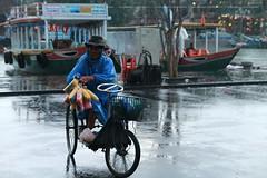 Old man and rain