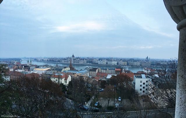 Vista dal Bastione dei Pescatori, Budapest dall'alto