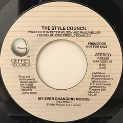 THE STYLE COUNCIL:MY EVER CHANGING MOODS(LABEL SIDE-A)