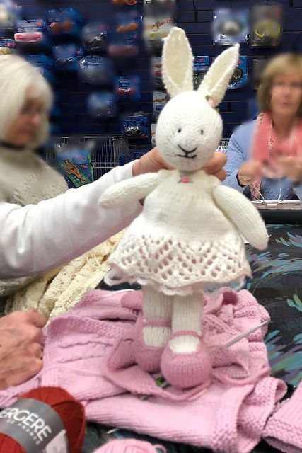 Carola's Girl Bunny by Julie Williams is so much bigger than all of ours but oh so cute!! Love the lace dress!