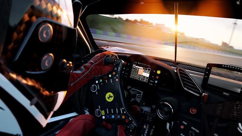 Assetto Corsa Competizione Ferrari 488 GT3 Cockpit