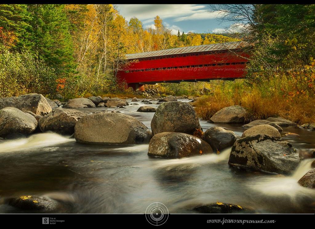 Pont couvert St-Placide, Charlevoix, DRI
