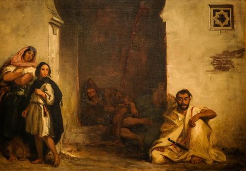Eugène Delacroix, Street in Meknes, 1832 10/2/18 #metmuseum #artmuseum