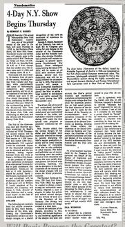NYT 1973-03-25 Numismatics column