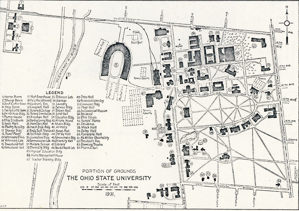1931 Campus Map The Ohio State University Archives Flickr
