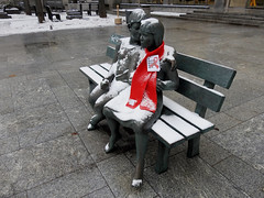 The Secret Bench of Knowledge sculpture in Ottawa, Ontario