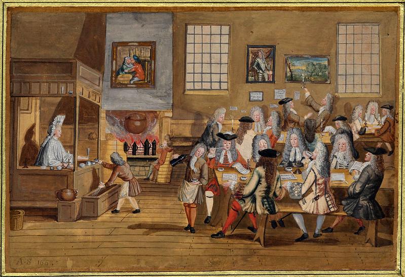 Quá cà phê - Coffee House ở London, Anh, những năm 1700