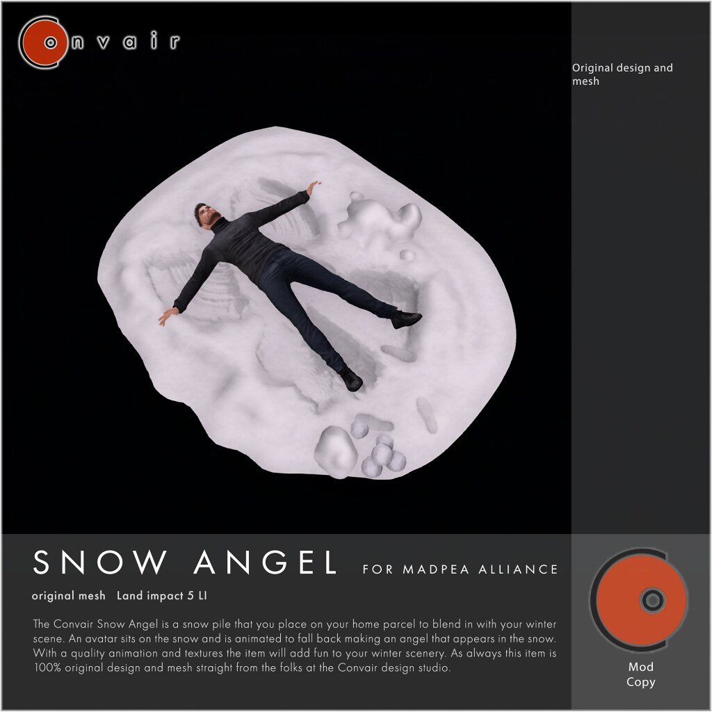 CONVAIR Snow Angel - TeleportHub.com Live!