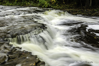 A series of falls downstream on the Ocqueoc River, Michigan