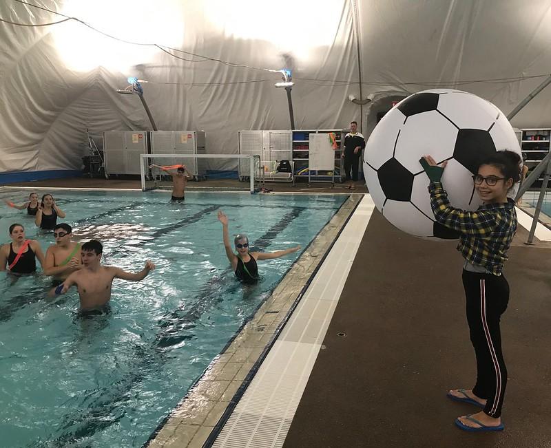 Nuoto: gruppo sportivo partita di pallanuoto Natale 2018