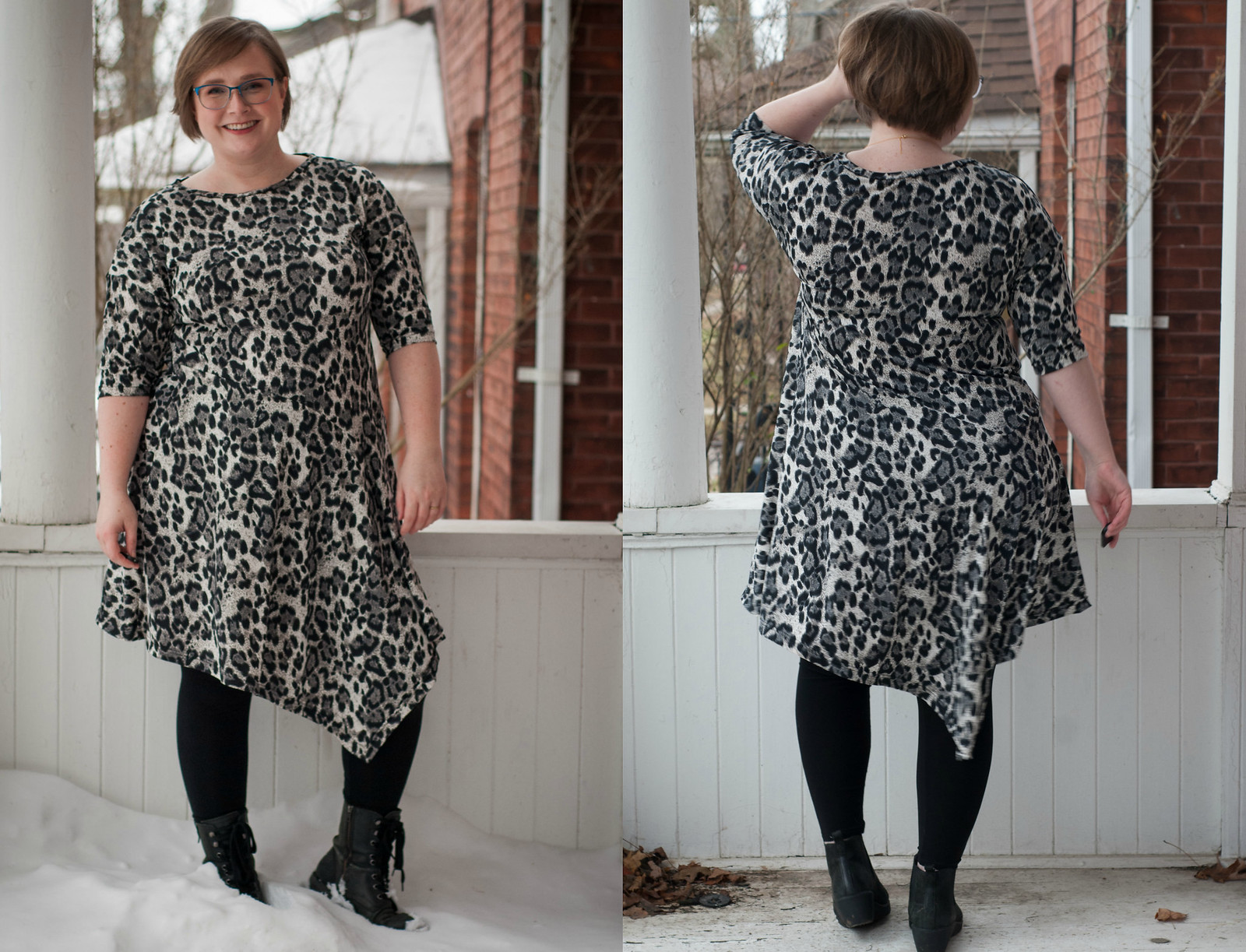 Burda Leopard Dress