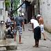 4. Calles de la favela Rocinha con chavales jugando en ella