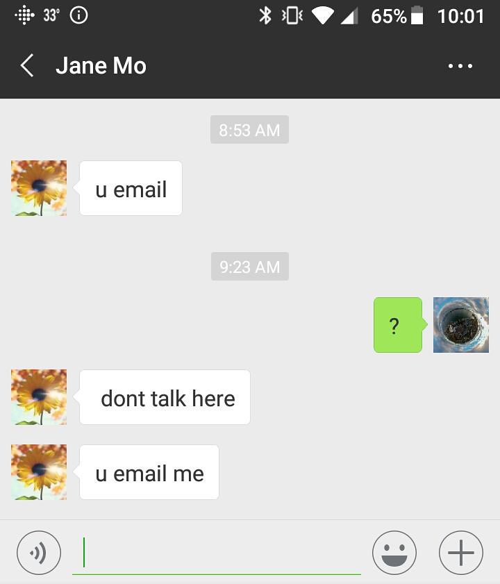 Jane Mo boots me off WeChat