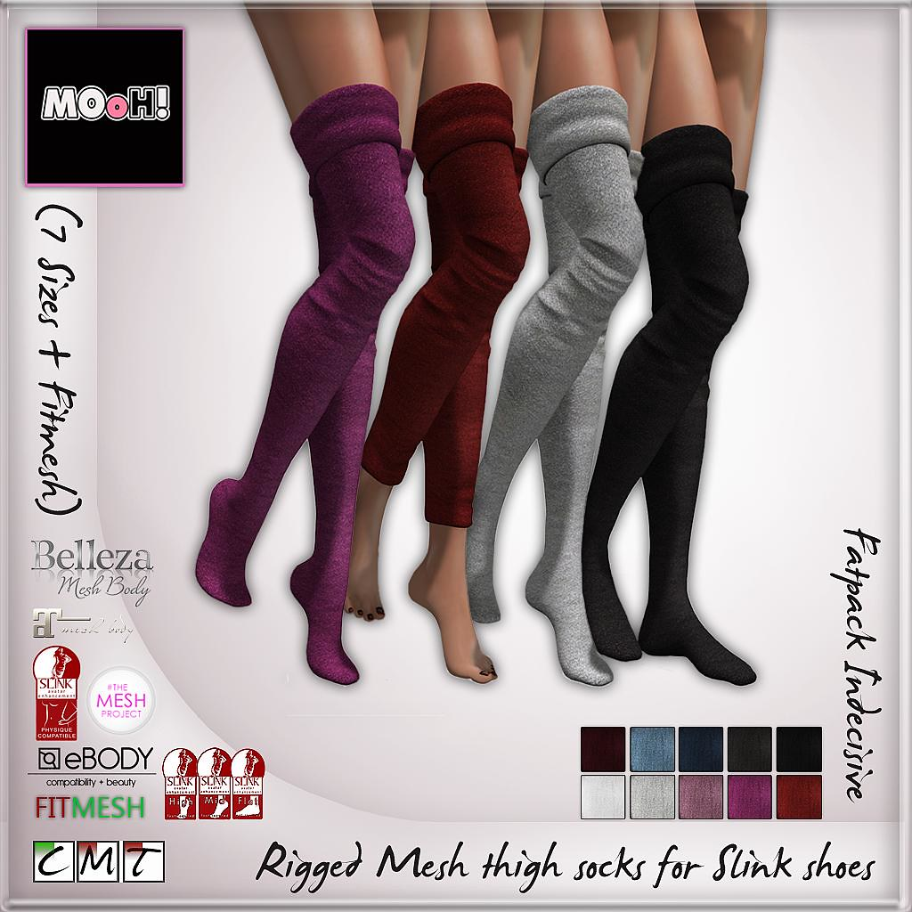 MOoH! Thigh high socks for slink feet indecisive