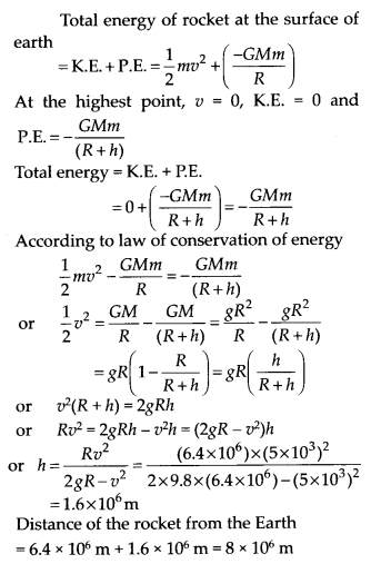 NCERT Solutions for Class 11 Physics Chapter 8 Gravitation 14