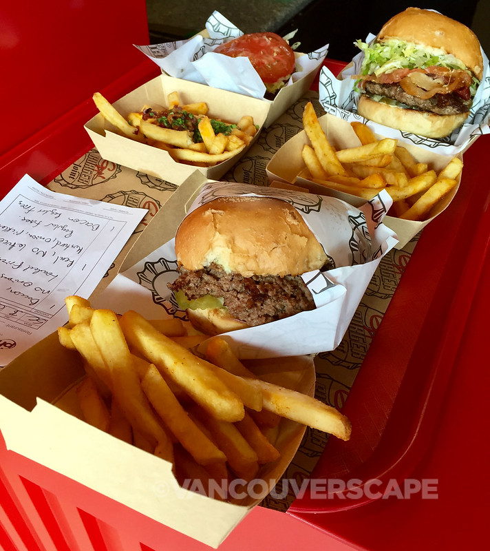 Guy Fieri's burgers and fries