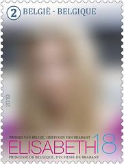 17 Princesse Elisabeth18 timbre empty
