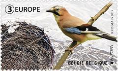 08 EUROPA NATIONAL BIRDS timbre B Geai