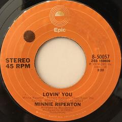 MINNIE RIPERTON:LOVIN' YOU(LABEL SIDE-A)