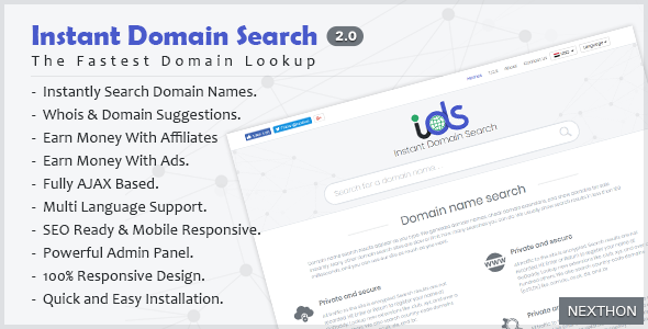 Instant Domain Search Script 2.0