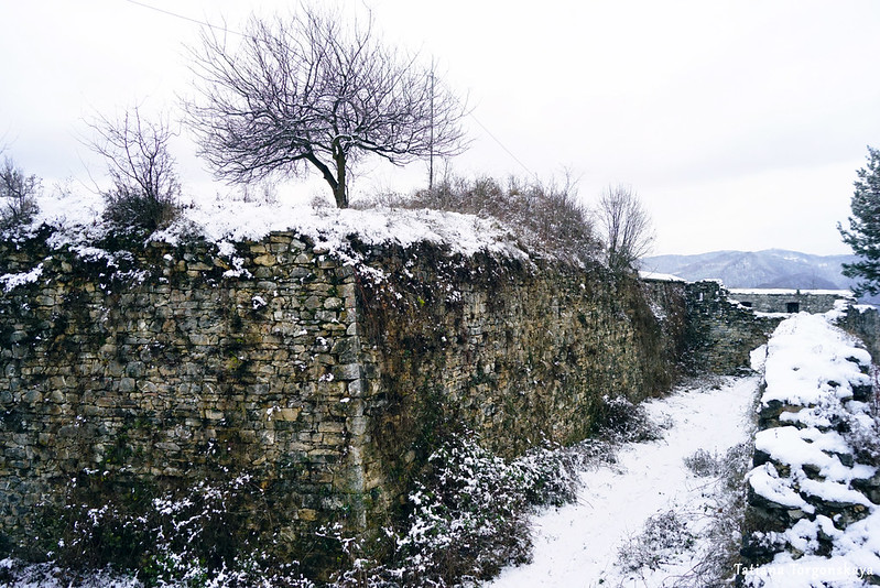 Крепостной ров зимой