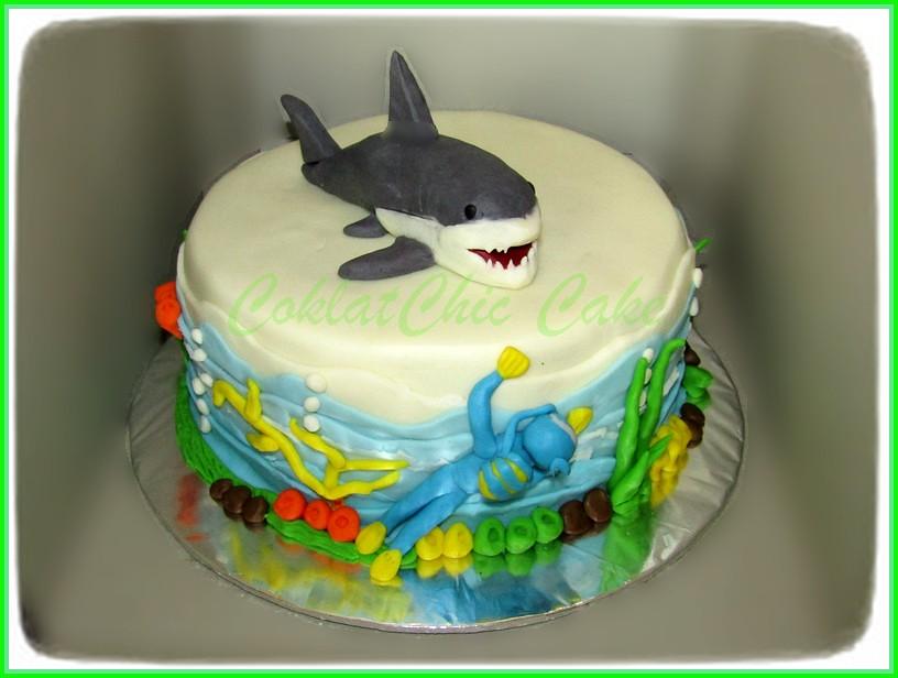 Cake Diver vs Shark 20 cm