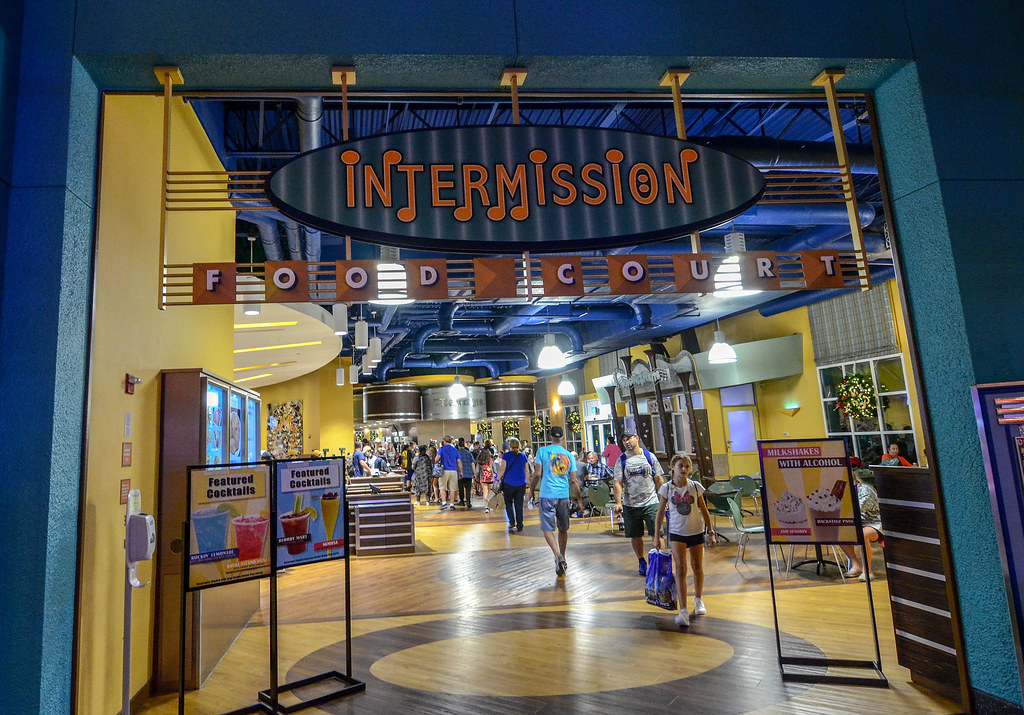 Intermission Food Court sign All Star Music