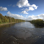 Flowing River Ribble at Preston