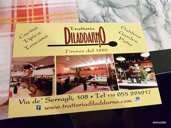 Trattoria Diladdarno postcard