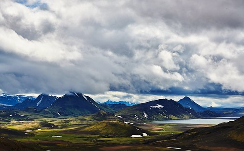 On the way to Alftavatn lake. Iceland.