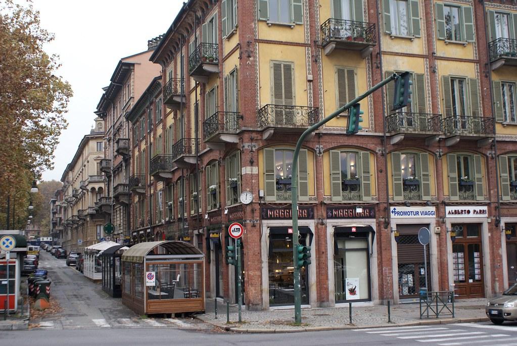 Quartier de Borgo Po à Turin.