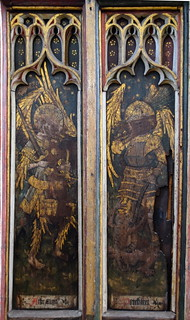 north aisle screen: archangels and powers (15th Century)