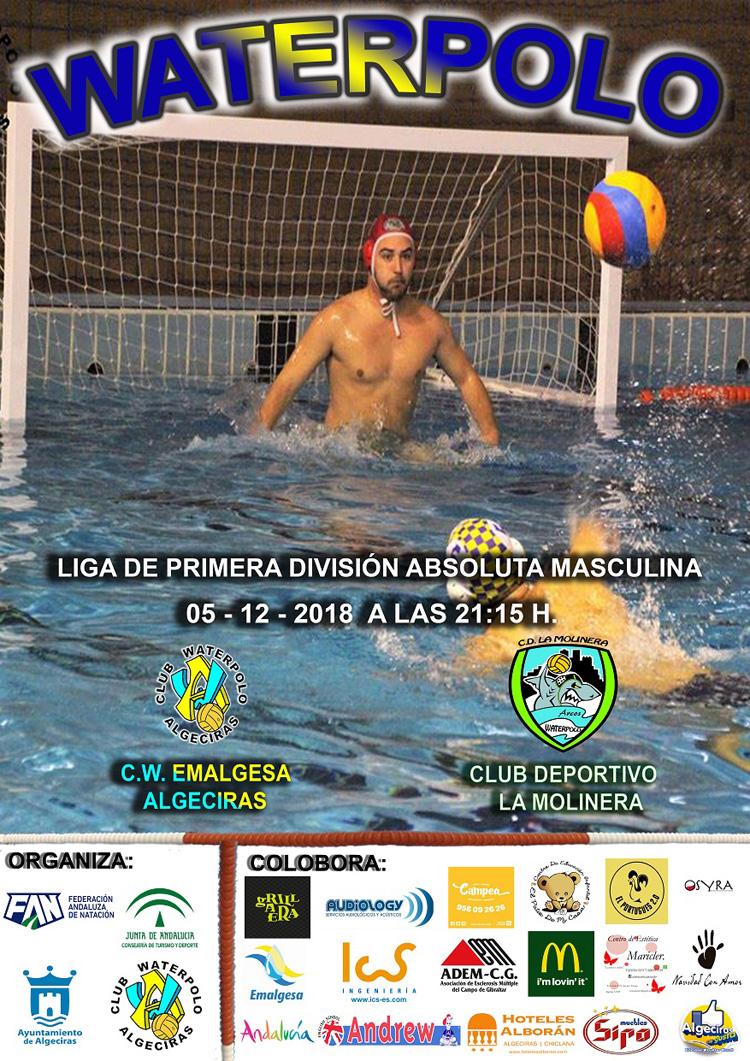 El Waterpolo Algeciras se enfrentará el miércoles frente al C.D La Molinera