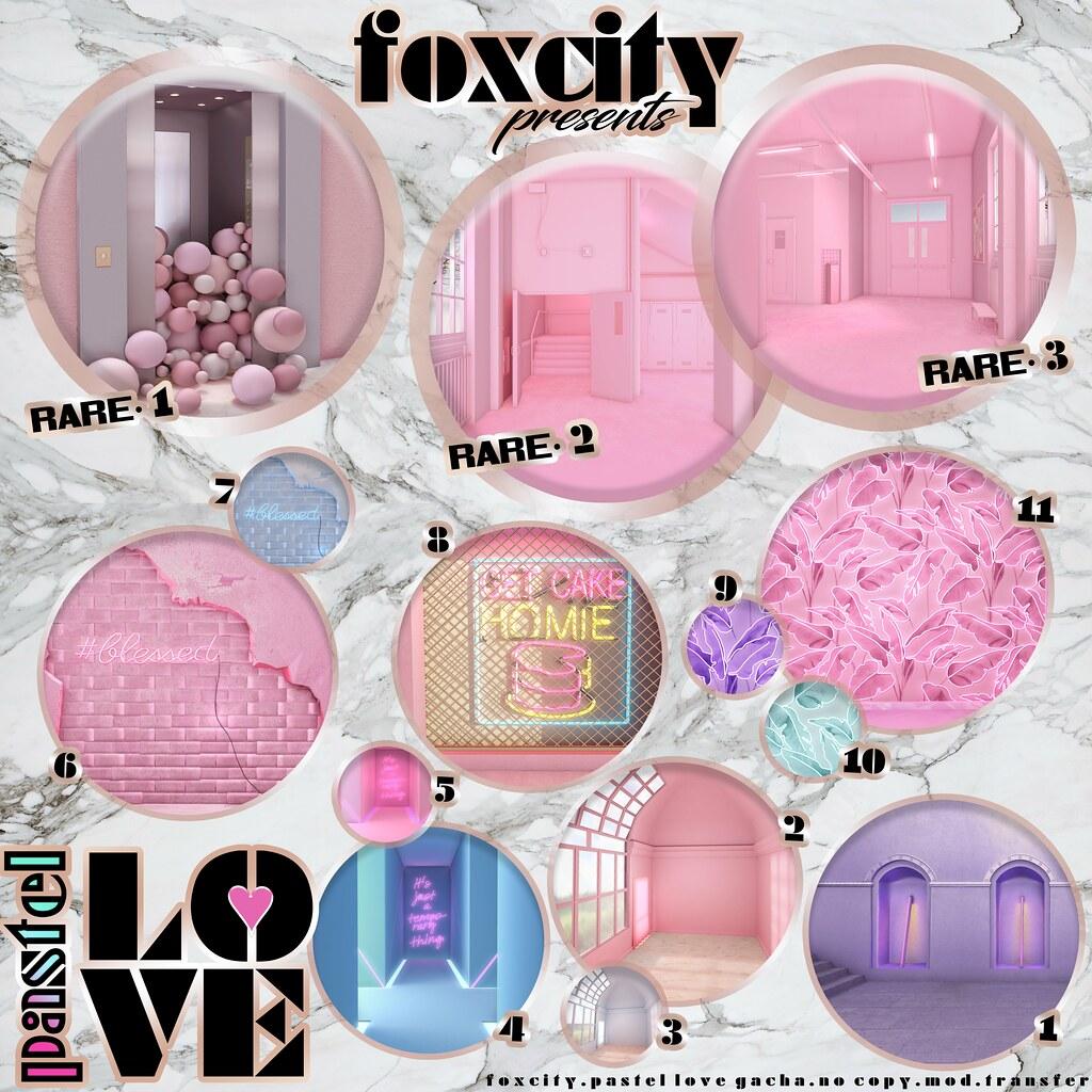 FOXCITY. Pastel Love Gacha