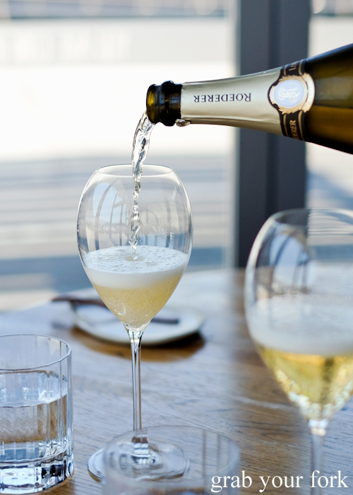 Louis Roederer champagne at LuMi restaurant in Pyrmont Sydney