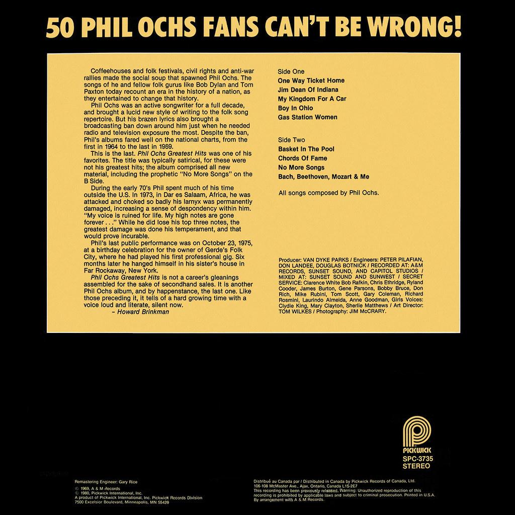 Phil Ochs - Greatest Hits