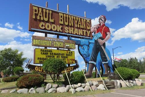 Paul Bunyan's Cook Shanty Sign (Minocqua, Wisconsin)