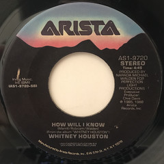 WHITNEY HOUSTON:HOW WILL I KNOW(LABEL SIDE-A)