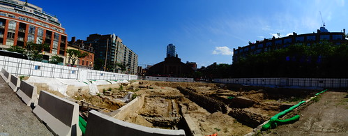 Pano of excavation for a new North St Lawrence Market, 2017 07 15 -g