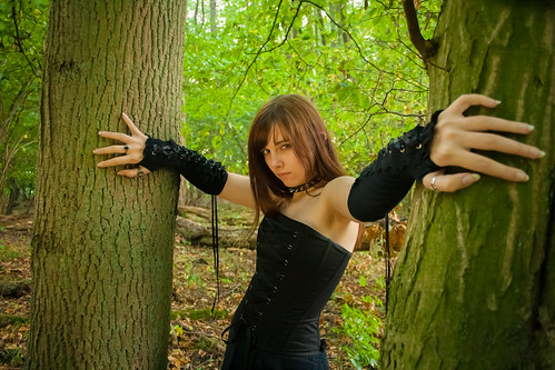 Gothicgirl in the Wood