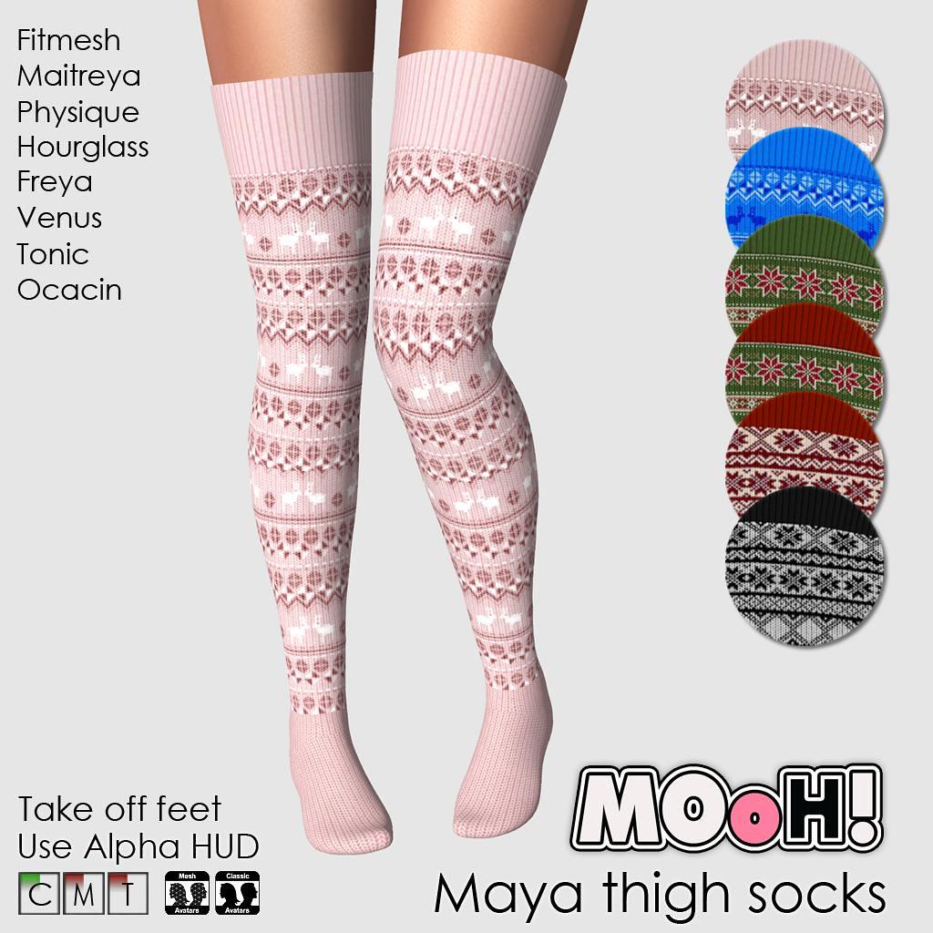 Maya thigh socks