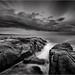 Storm, larapuna coast by niggyl (well behind)