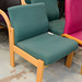 Beech fabric meeting room chair E45