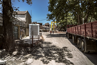 Access to the work of the new elevated viaduct of the San Martín railway and future street Punta Arenas