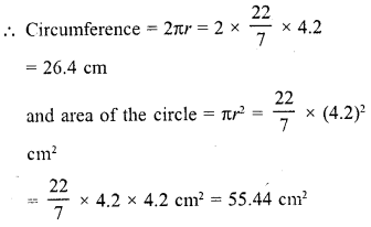 RD Sharma Class 10 Chapter 15 Areas related to Circles