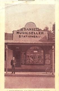 WC Daniel Music Seller Stationer circa 1900 in Goulburn, NSW