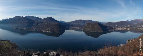 Panorama sur le Lago di Lugano depuis le Sasso delle Parole (Ticino) (27/12/2018 -04)