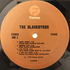 THE BLACKBYRDS:THE BLACKBYRDS(LABEL SIDE-B)