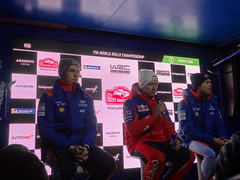 Three leaders on Friday evening at Monte-Carlo Rally